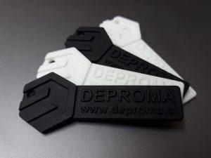 3D-tiskani SLS kosi - potopno barvani v črni barvi