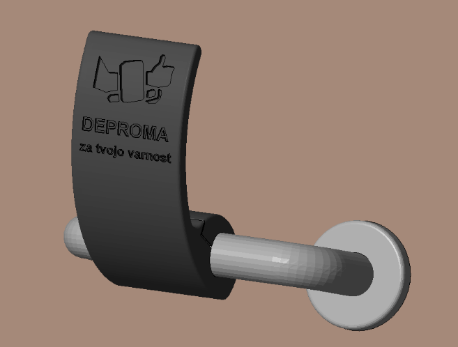Pripomoček za brezstično odpiranje vrat, ki smo ga ustvarili s 3D tiskalnikom